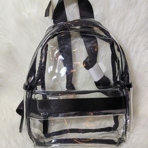 NWT Clear Backpack Medium & Pouch